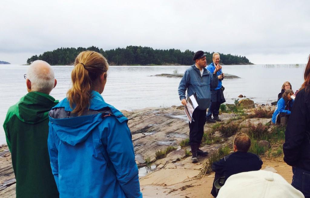 Naturguidning på Arnöns sandstränder 2015.