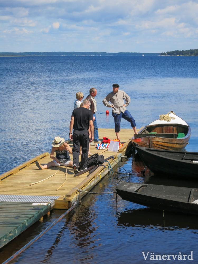 Samtalar med besökare om Vänern och dess mäktiga kulturhistoria