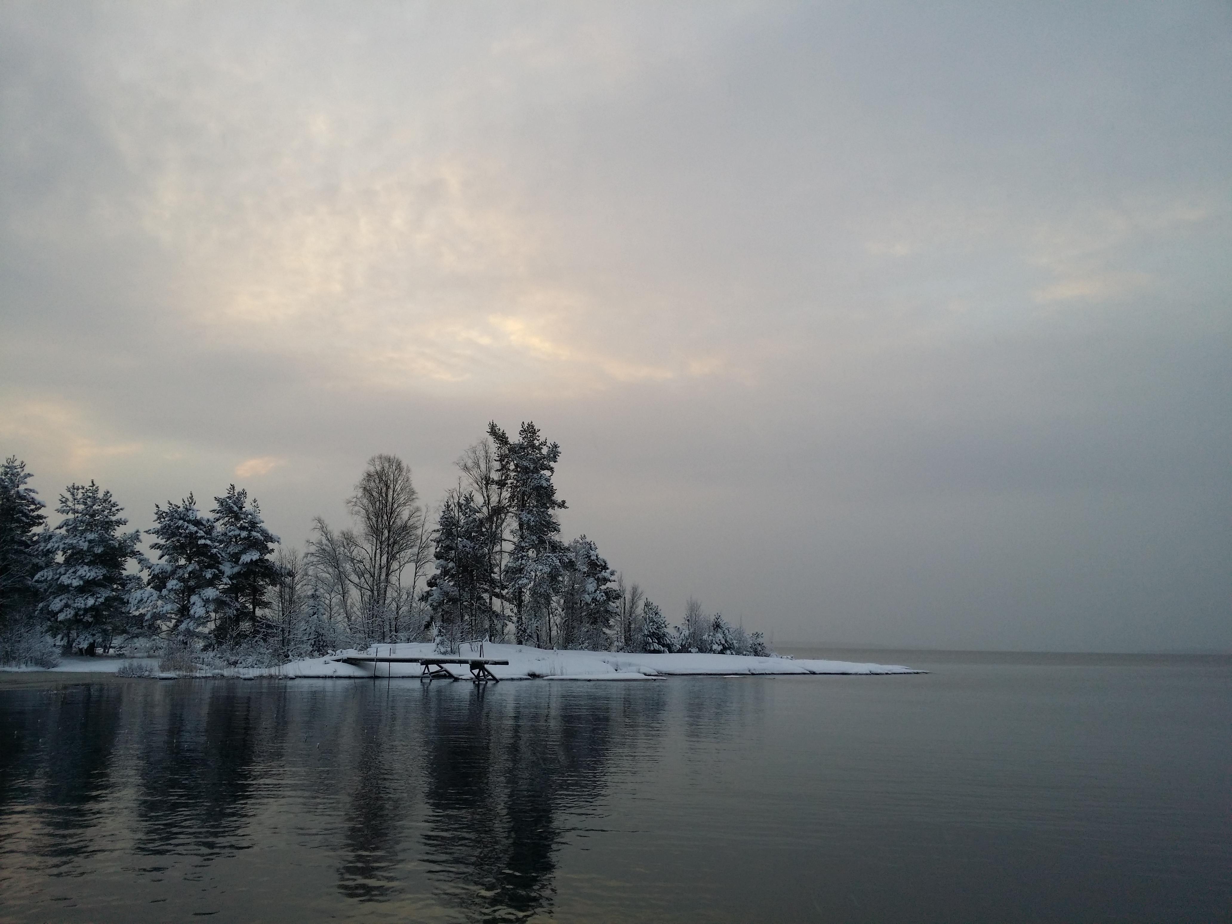 Vacker och stilla morgon.