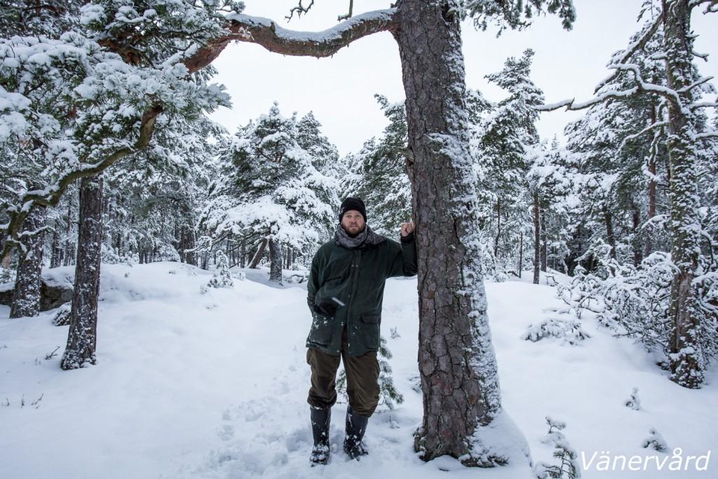 En selfi från Bäröns gammelskog. Fantastiskt vackert med all nysnö i de gamla träden. Och vilket lugn det är där ute såhär års. Riktig vildmark!